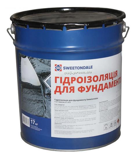 Sweetondale - Гидроизоляционная мастика для фундаментов
