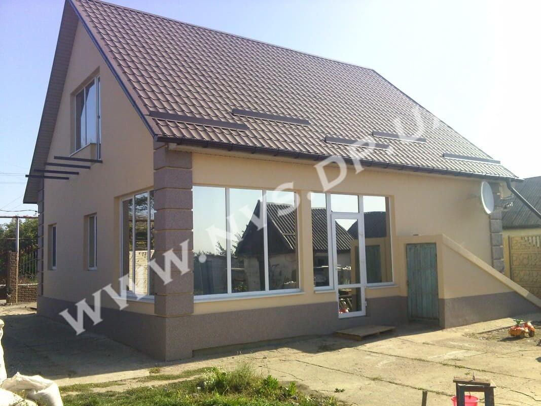 Штукатурный фасад - Ceresit + Baumit 115м.кв.