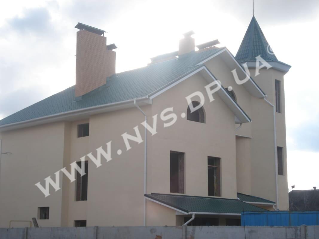 Штукатурный фасад - Ceresit-Dufa 612м.кв.