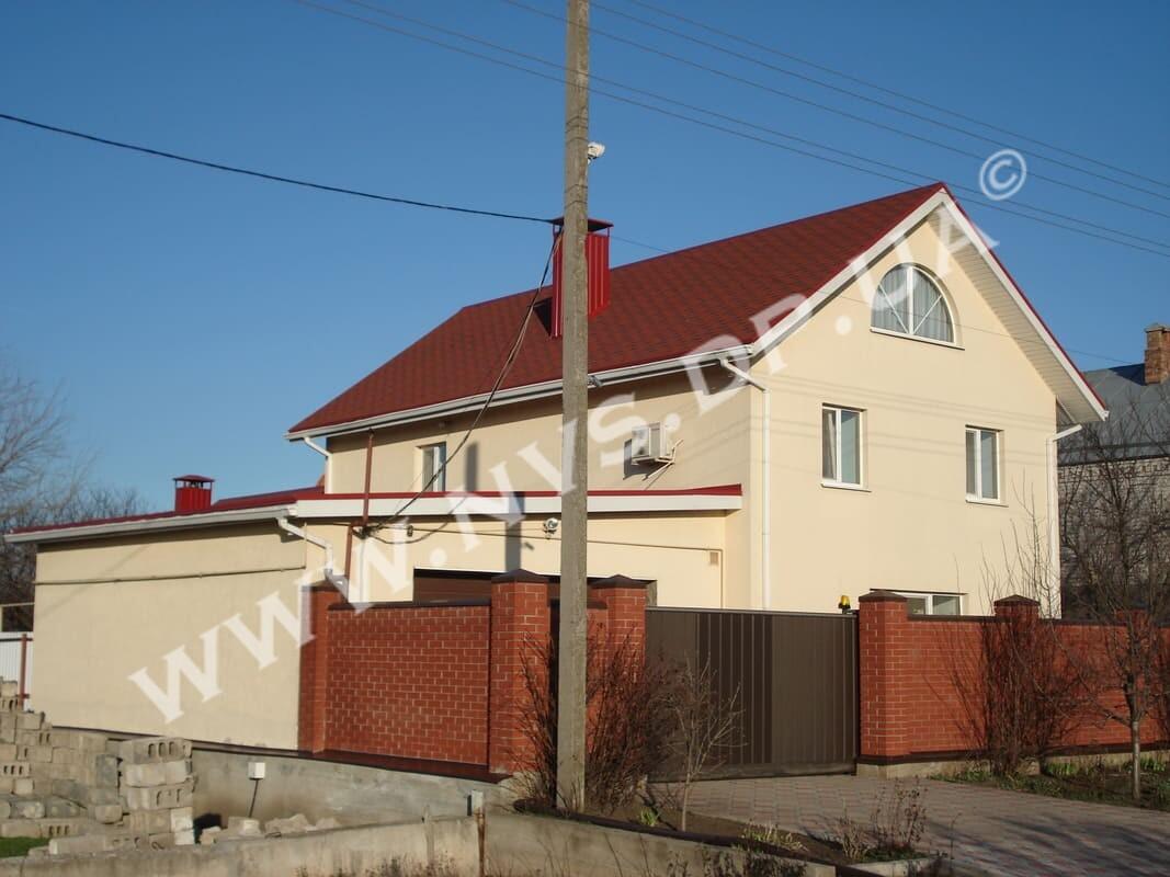 Штукатурный фасад - Dufa 220м.кв.